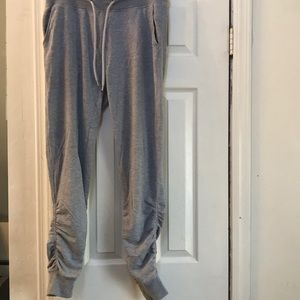 mens grey h&m skinny fit sz S stacked ankle jogger